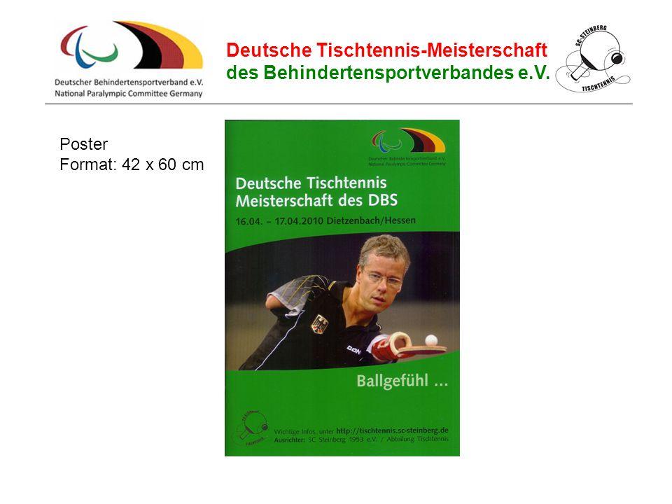 Deutsche Tischtennis-Meisterschaft des Behindertensportverbandes e.V. Poster Format: 42 x 60 cm