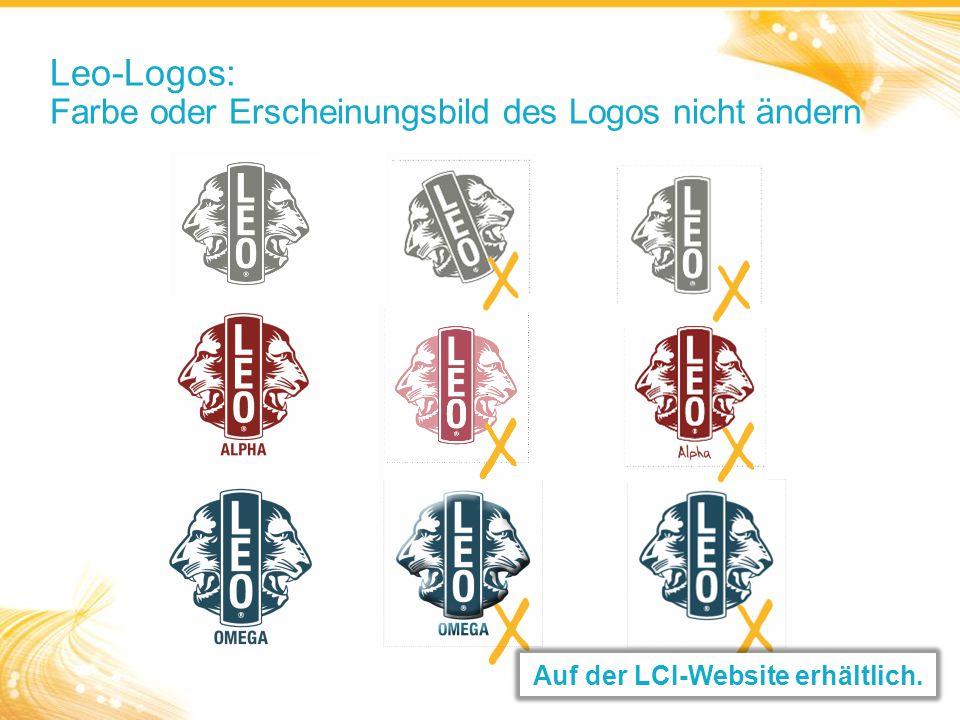 Leo-Logos: Farbe oder Erscheinungsbild des Logos nicht ändern Auf der LCI-Website erhältlich.