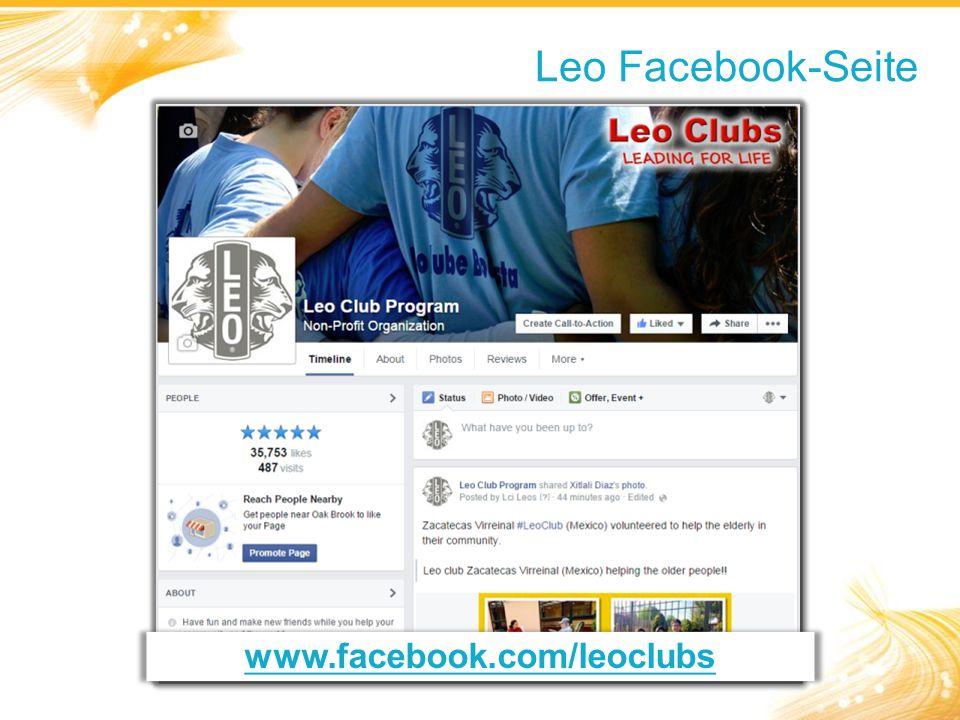 Leo Facebook-Seite www.facebook.com/leoclubs