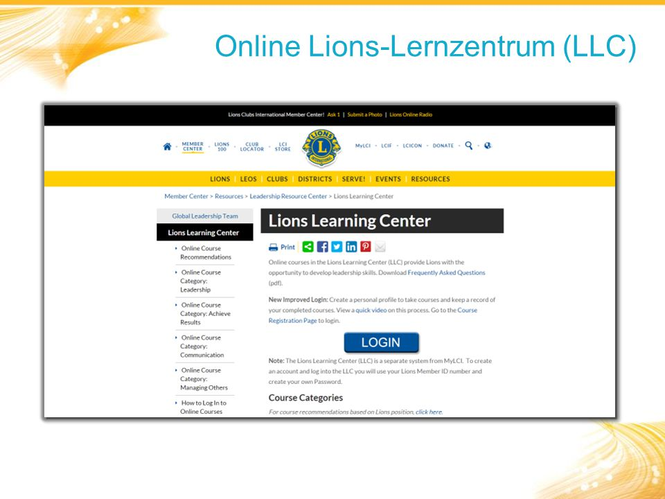 Online Lions-Lernzentrum (LLC)