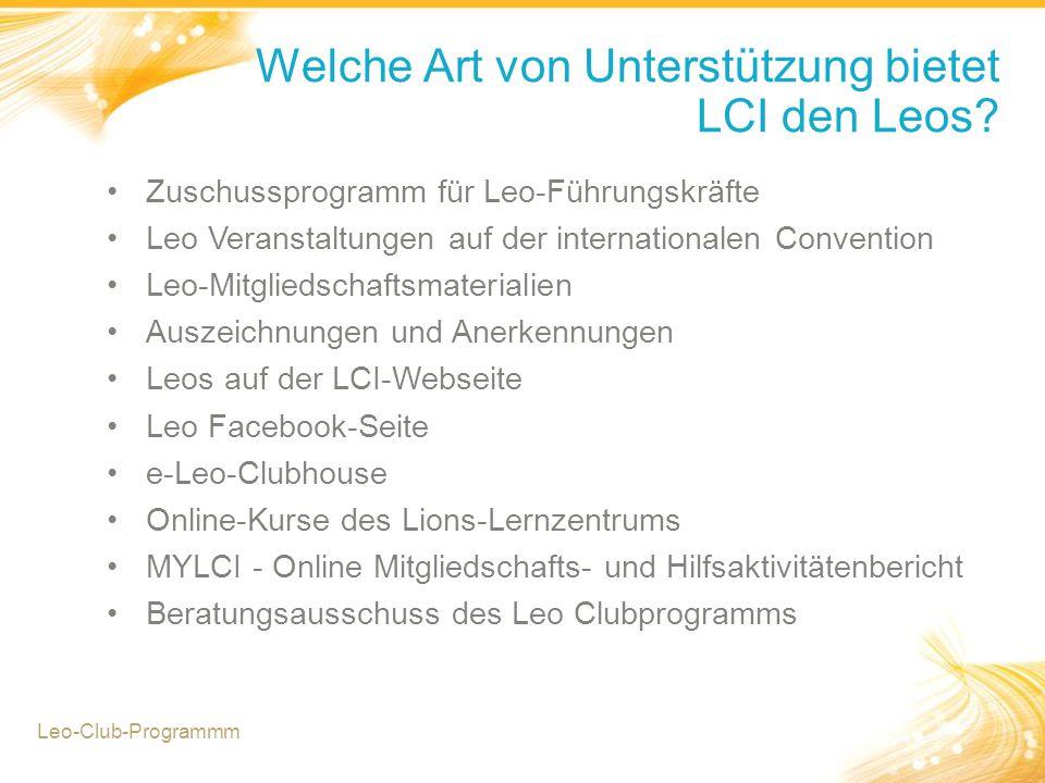 Welche Art von Unterstützung bietet LCI den Leos.