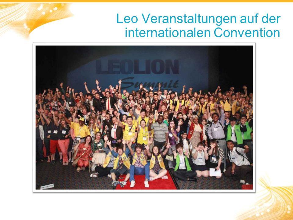 Leo Veranstaltungen auf der internationalen Convention