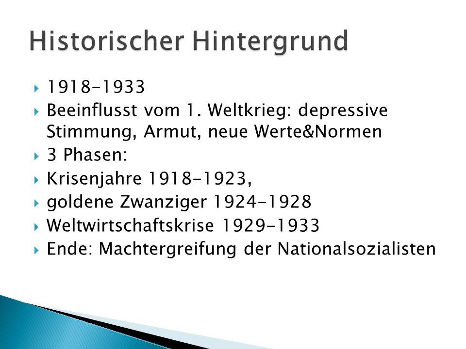  1918-1933  Beeinflusst vom 1.