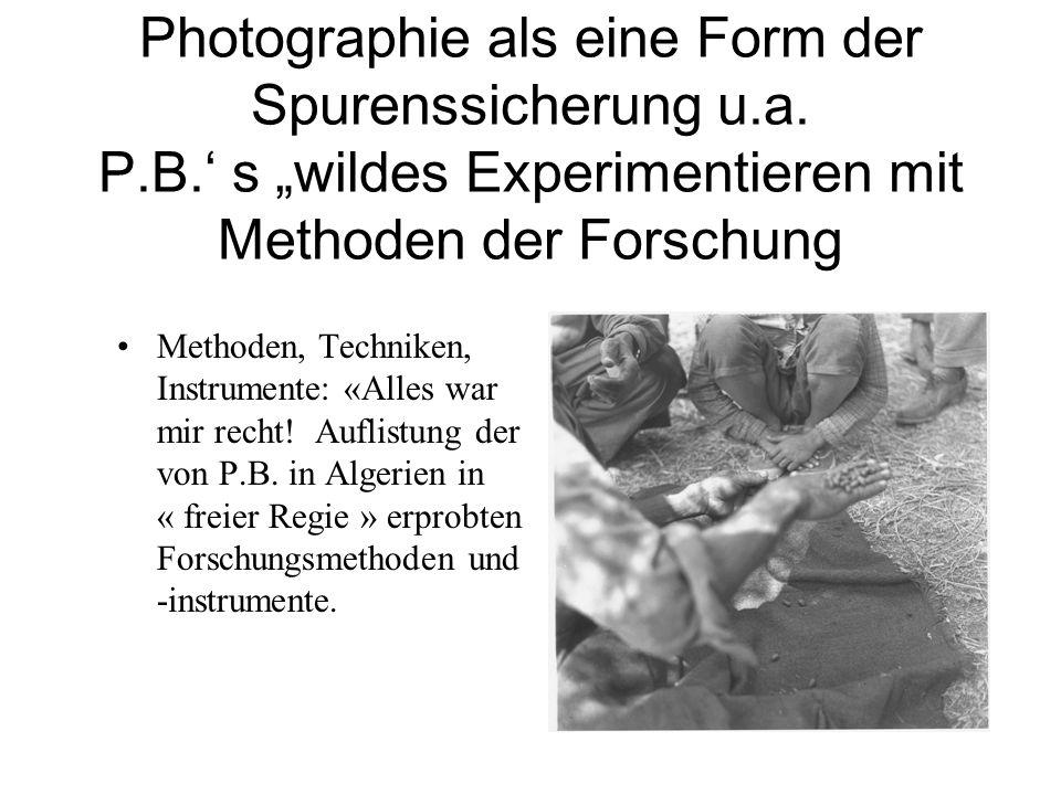 Photographie als eine Form der Spurenssicherung u.a.