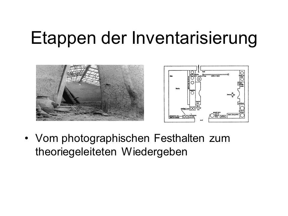 Etappen der Inventarisierung Vom photographischen Festhalten zum theoriegeleiteten Wiedergeben