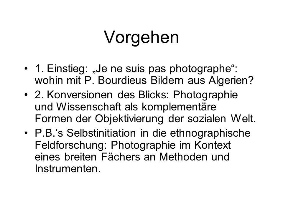 """Vorgehen 1.Einstieg: """"Je ne suis pas photographe : wohin mit P."""