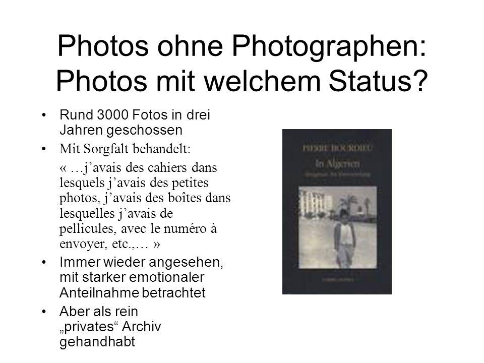 1961 - 2006: visuelle Zeugnisse von Menschen, die sonst kaum Spuren hinterlassen Kinder einer Familie aus Djebabra, photographiert von Bourdieu im Jahre 1961; wieder am Ort angetroffen im Jahre 2006