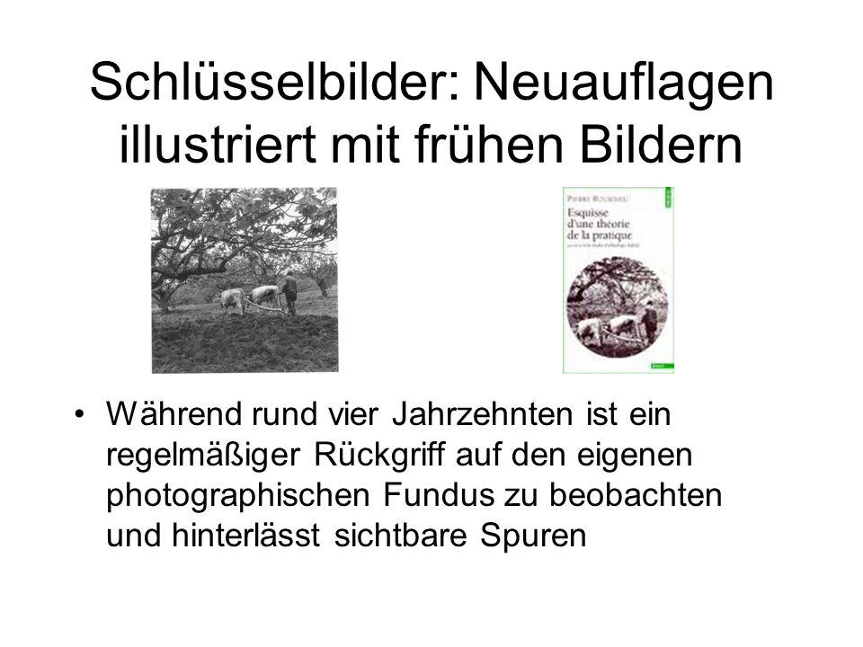 Weitere emblematische Titelgestaltungen Diskreter, dosierter Gebrauch der Photographie (auch Illustrationen in Beiträ- gen für ACTES und a.a.O.
