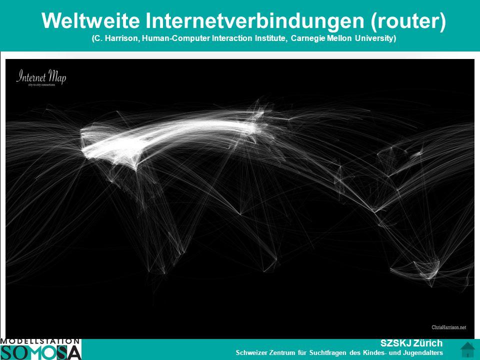 SZSKJ Zürich Schweizer Zentrum für Suchtfragen des Kindes- und Jugendalters Weltweite Internetverbindungen (router) (C. Harrison, Human-Computer Inter