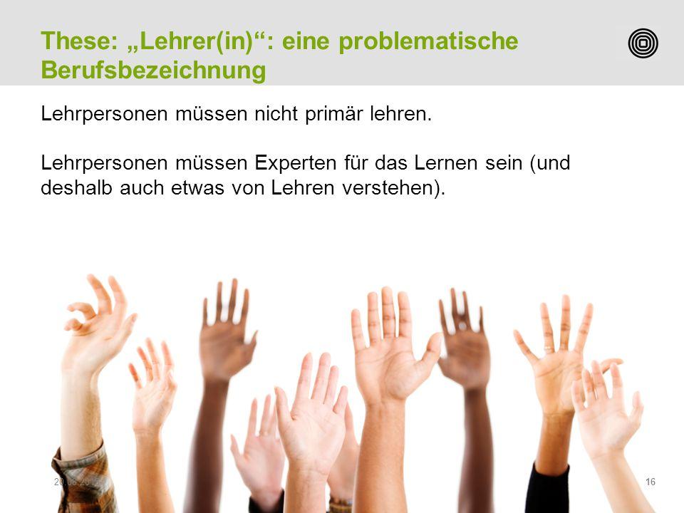 Prof. Peter Heiniger Leiter Studiengang Sekundarstufe II Lehrpersonen müssen nicht primär lehren. Lehrpersonen müssen Experten für das Lernen sein (un