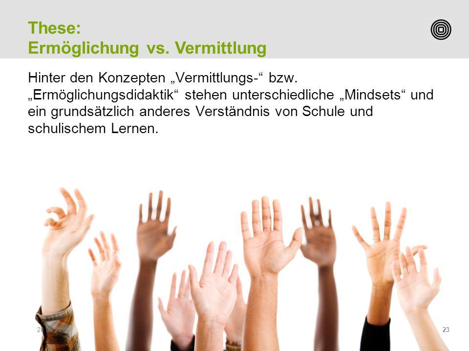 """Prof. Peter Heiniger Leiter Studiengang Sekundarstufe II Hinter den Konzepten """"Vermittlungs-"""" bzw. """"Ermöglichungsdidaktik"""" stehen unterschiedliche """"Mi"""