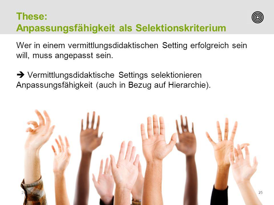 Prof. Peter Heiniger Leiter Studiengang Sekundarstufe II Wer in einem vermittlungsdidaktischen Setting erfolgreich sein will, muss angepasst sein.  V