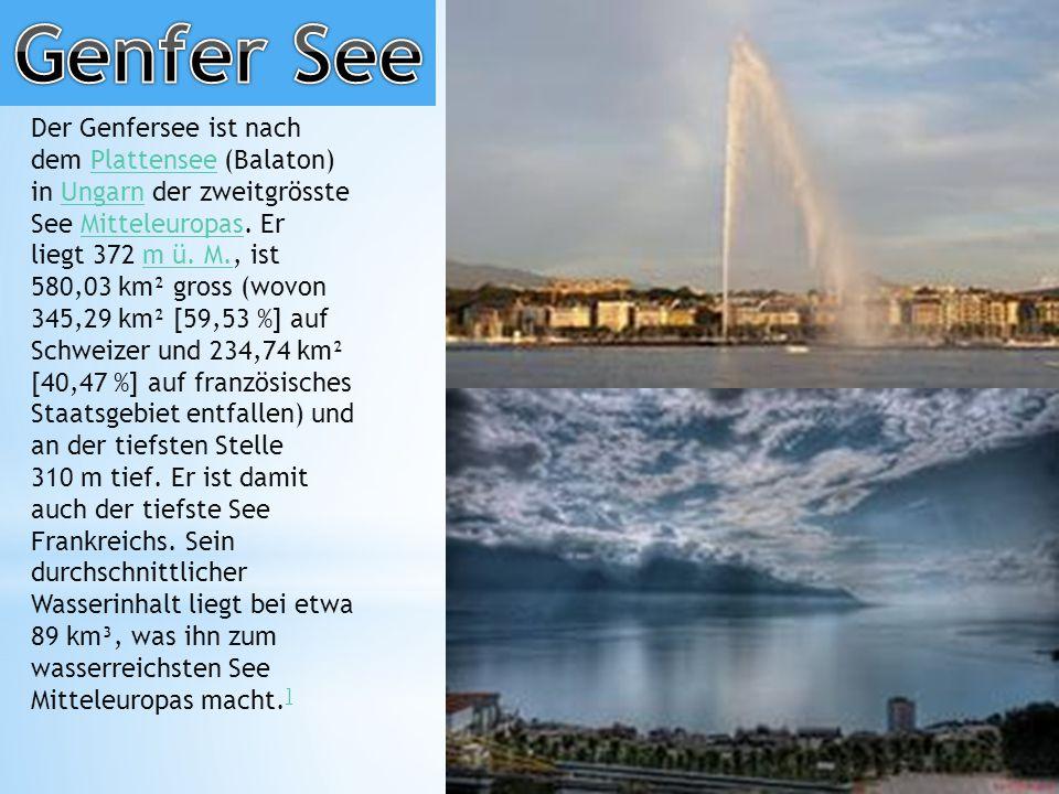 Der Genfersee ist nach dem Plattensee (Balaton) in Ungarn der zweitgrösste See Mitteleuropas.