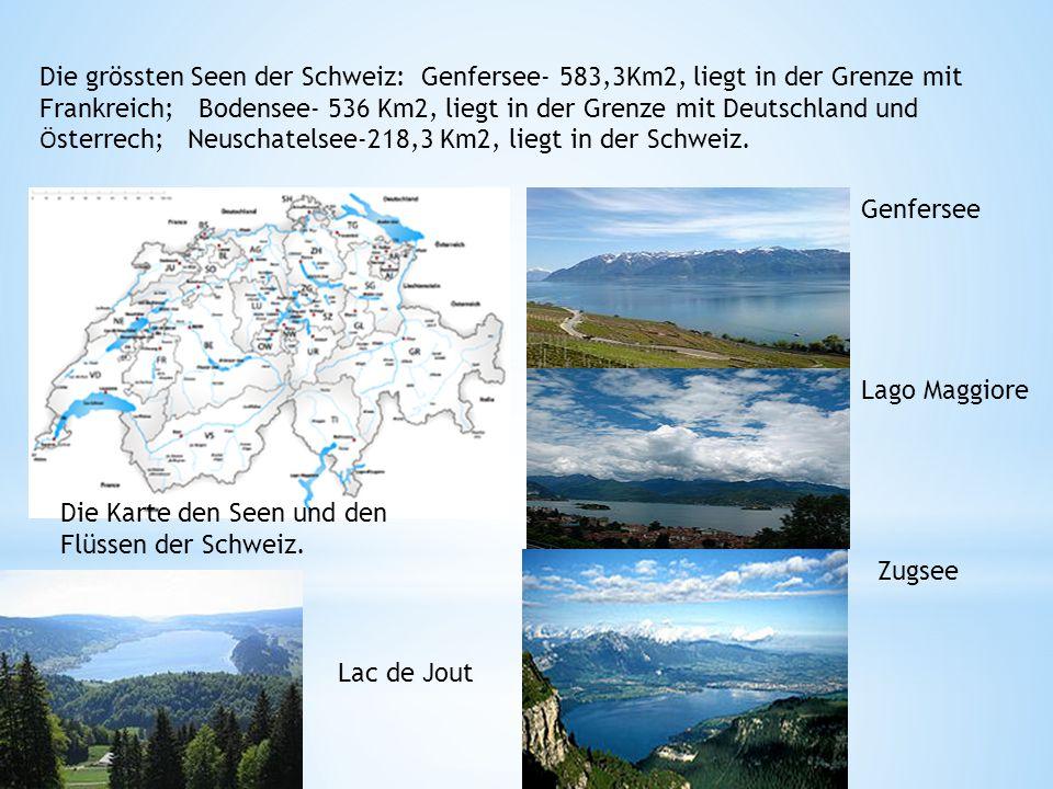 Der Vierwaldstättersee besteht aus mehreren Armen und Buchten: Der Urnersee erstreckt sich von der Einmündung der Reuss bei Seedorf 11 km in nördlicher Richtung bis nach Brunnen Der Gersauer See (auch Gersauer Becken oder Gersauerbecken) führt 14 km von Ost nach West von Brunnen nach Ennetbürgen, wo die Engelberger Aa in den See mündet.