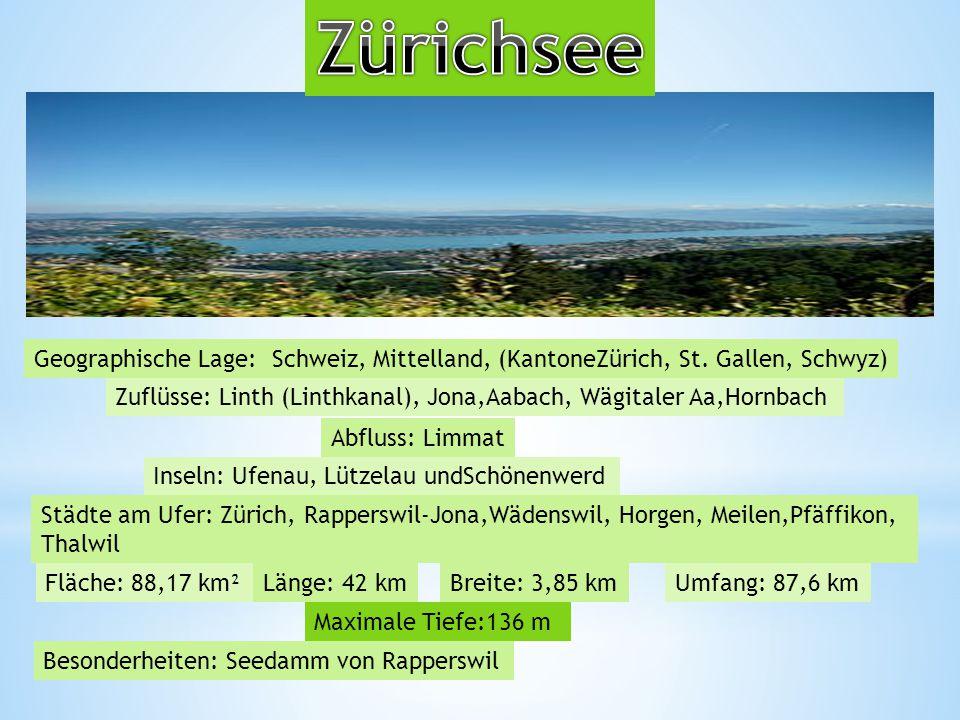 Geographische Lage: Schweiz, Mittelland, (KantoneZürich, St.