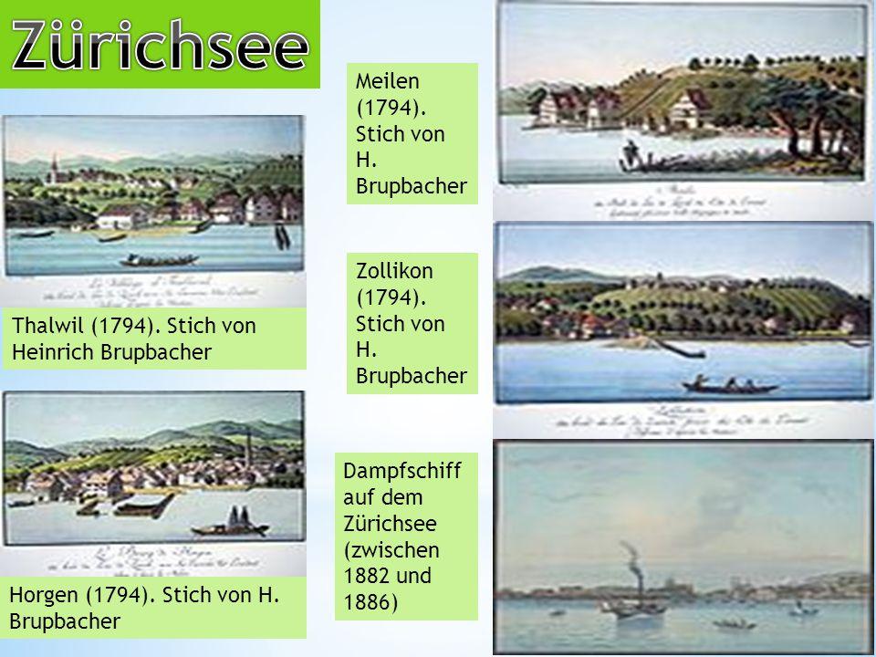 Thalwil (1794).Stich von Heinrich Brupbacher Horgen (1794).