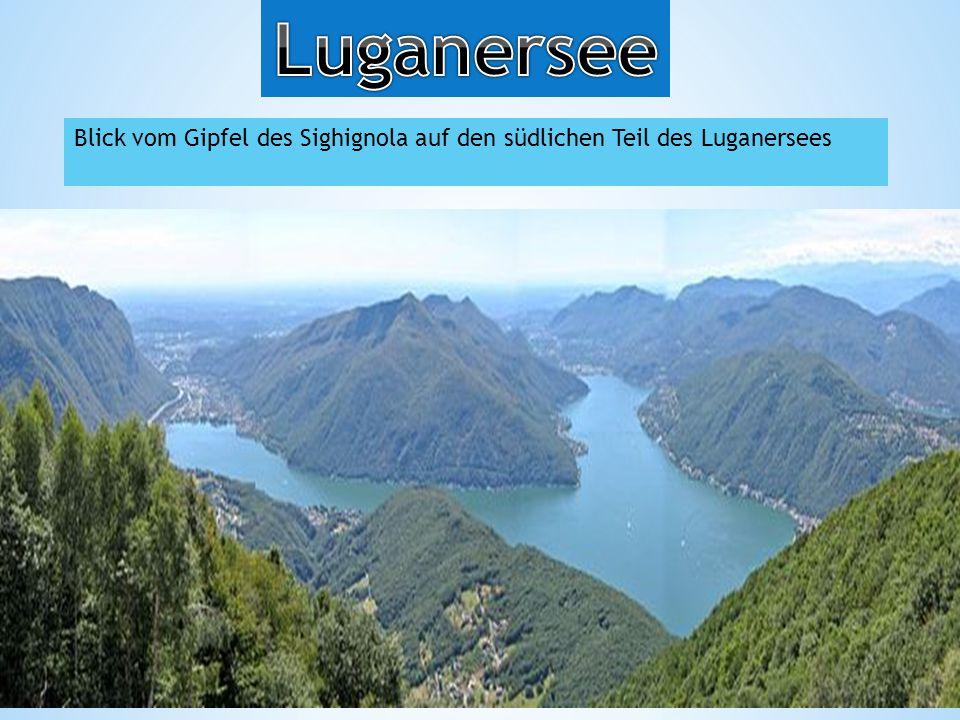 Blick vom Gipfel des Sighignola auf den südlichen Teil des Luganersees