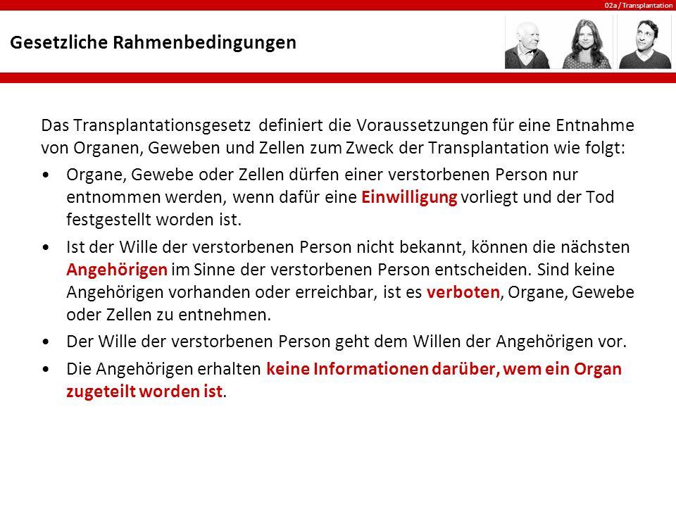 02a / Transplantation Die Spendekarte Die Spendekarte kann im Internet unter www.transplantinfo.ch ausgefüllt werden.