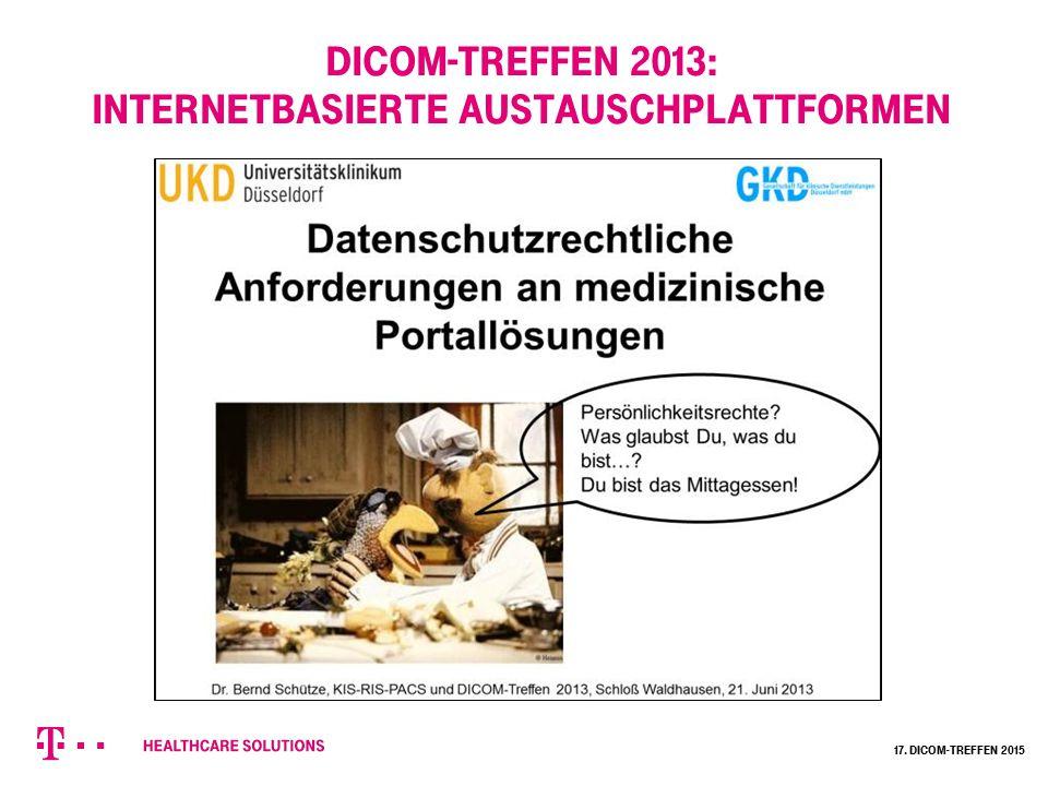 DICOM-Treffen 2013: Internetbasierte Austauschplattformen 17. Dicom-Treffen 2015