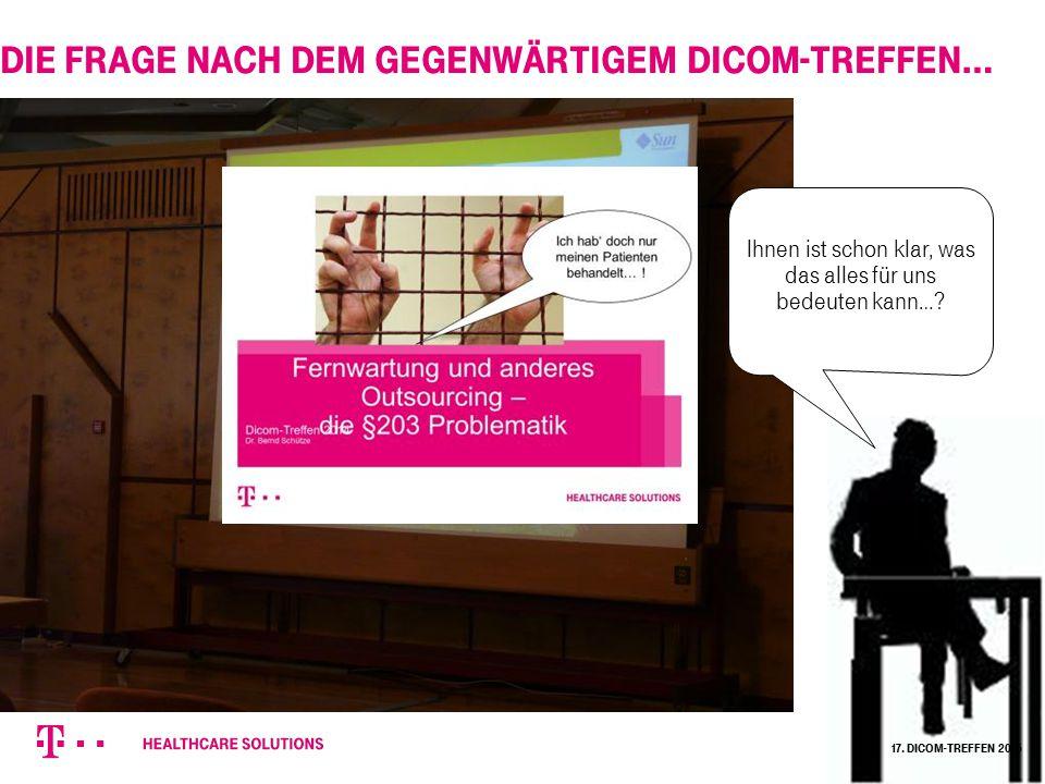 17. Dicom-Treffen 2015 Die Frage nach dem gegenwärtigem DICOM-Treffen… Ihnen ist schon klar, was das alles für uns bedeuten kann…?