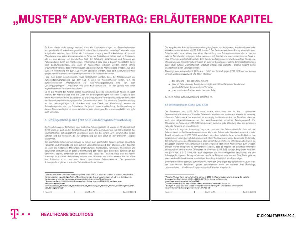 """""""Muster ADV-Vertrag: Kommentierung zu den jeweiligen Abschnitten Optionen und Alternativen gekennzeichnet 17."""