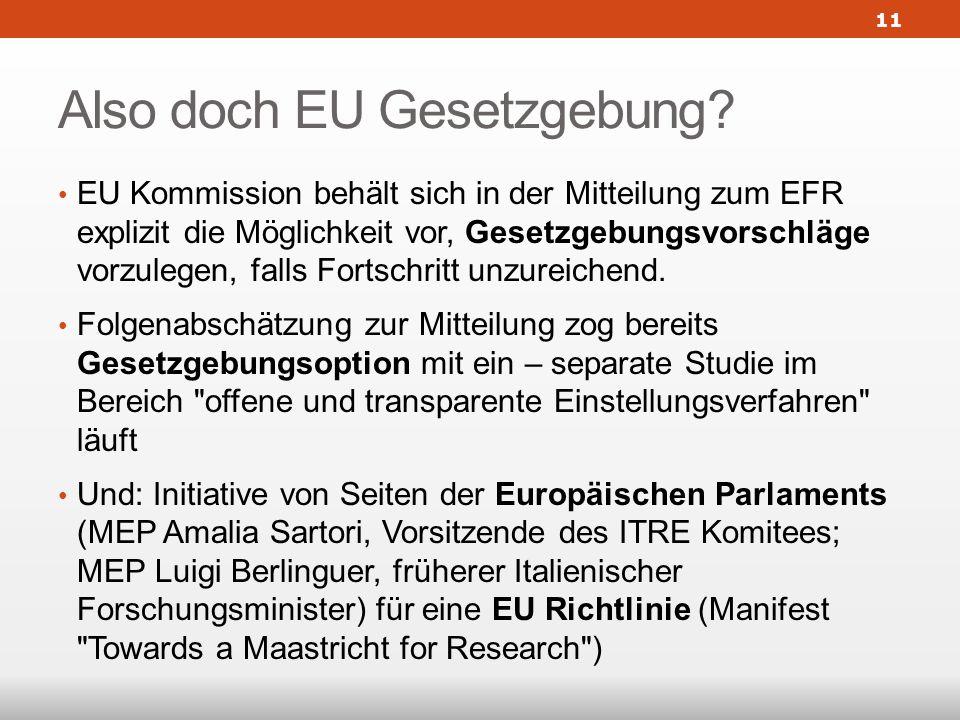 Also doch EU Gesetzgebung.