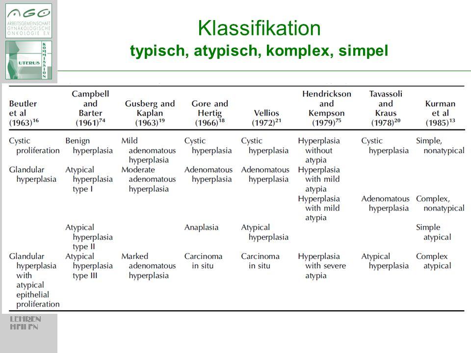 © AGO e.V. in der DGGG e.V. sowie in der DKG e.V. Klassifikation typisch, atypisch, komplex, simpel
