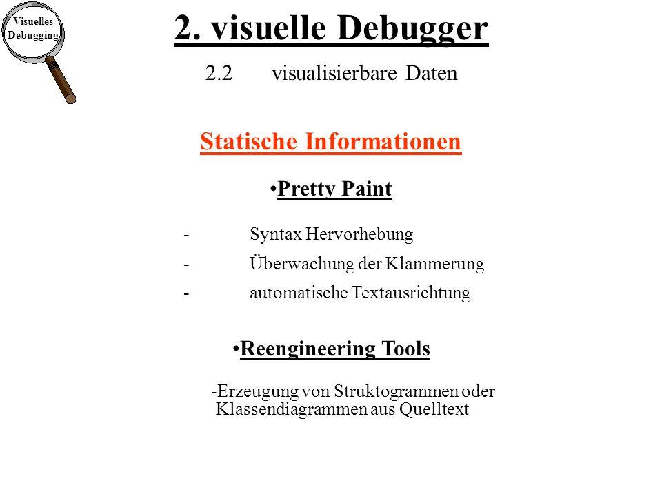 Visuelles Debugging 2. visuelle Debugger 2.4visuelle Debugger (Systeme) ISVL