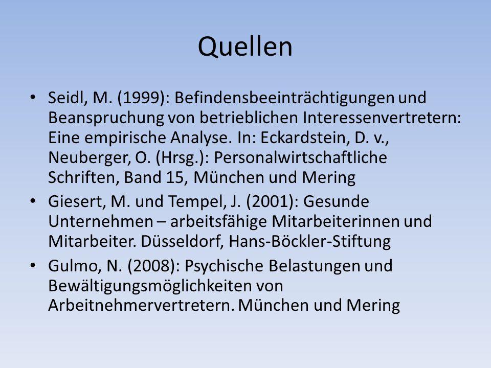 Quellen Seidl, M.