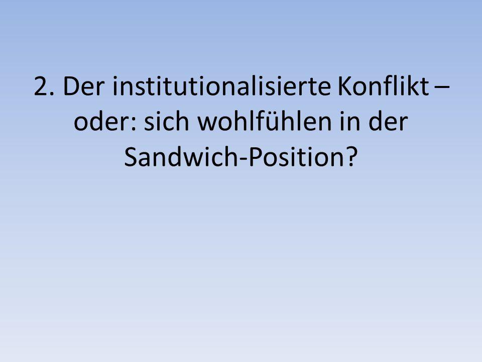 2. Der institutionalisierte Konflikt – oder: sich wohlfühlen in der Sandwich-Position