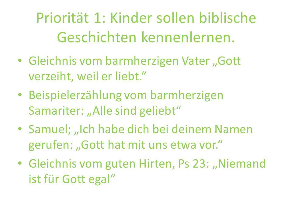 Priorität 1: Kinder sollen biblische Geschichten kennenlernen.