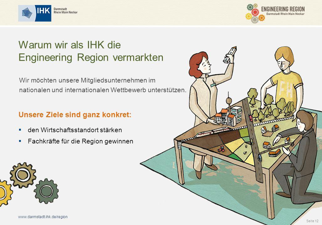 www.darmstadt.ihk.de/region Warum wir als IHK die Engineering Region vermarkten Wir möchten unsere Mitgliedsunternehmen im nationalen und internationa