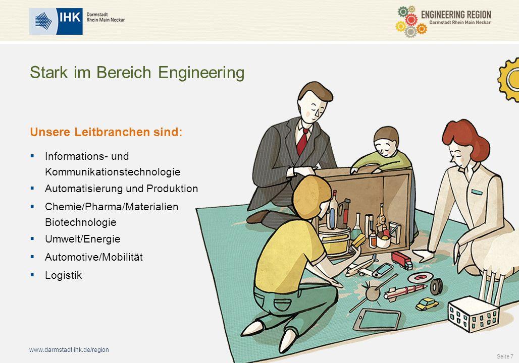 www.darmstadt.ihk.de/region Stark im Bereich Engineering Unsere Leitbranchen sind:  Informations- und Kommunikationstechnologie  Automatisierung und