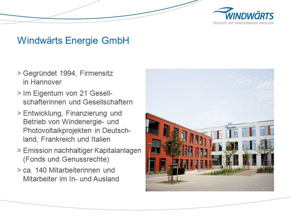 Realisierte Projekte >139 Windenergieanlagen (242,6 MW) >34 Photovoltaikanlagen (25,8 MW) >1 Biogasanlage (0,8 MW) >Gesamtleistung: 269,2 MW >Gesamtinvestitionsvolumen: 400 Mio.