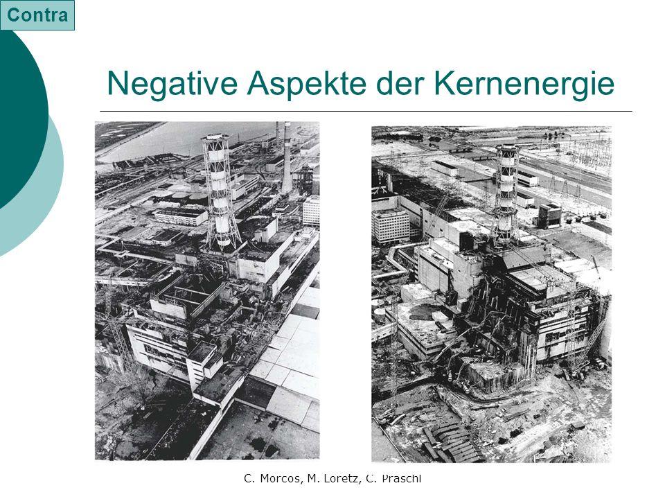 C. Morcos, M. Loretz, C. Praschl Negative Aspekte der Kernenergie Contra