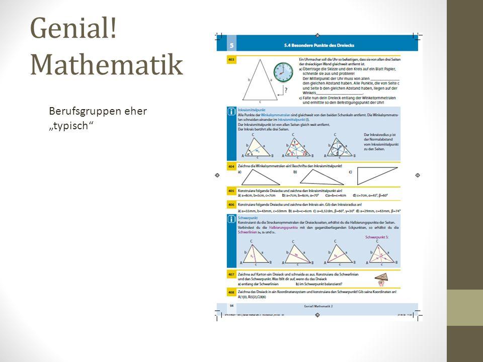 "Genial! Mathematik Berufsgruppen eher ""typisch"""