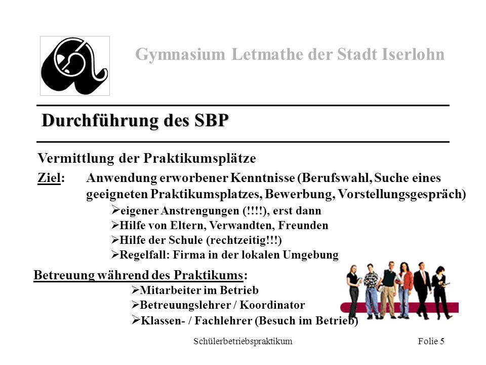 Schülerbetriebspraktikum Folie 6 Termine Di, 19.11./ Mi, 20.11.13Projekttage Berufsorientierung: u.a.