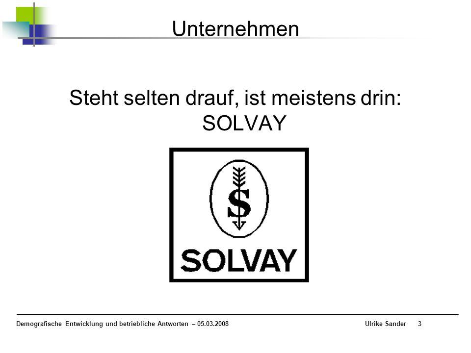 3 Unternehmen Steht selten drauf, ist meistens drin: SOLVAY