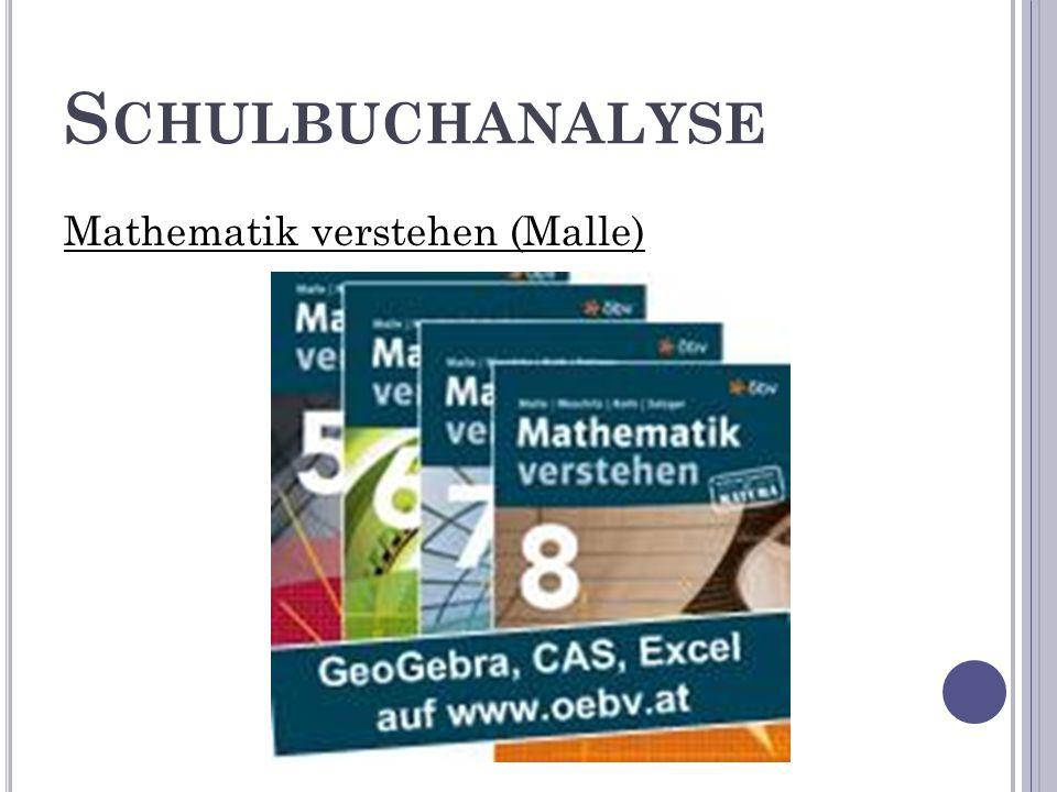 S CHULBUCHANALYSE Mathematik verstehen (Malle)