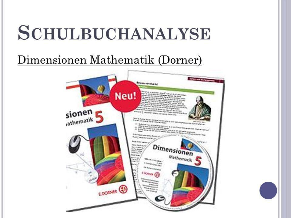 S CHULBUCHANALYSE Dimensionen Mathematik (Dorner)