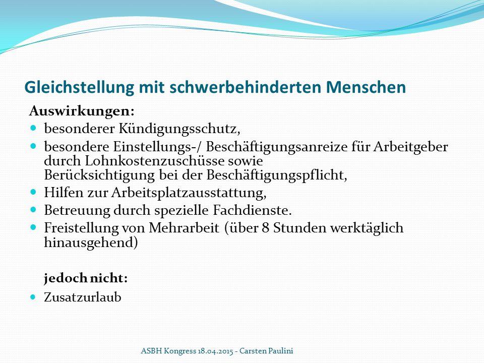 Gleichstellung, Bundessozialgericht v.