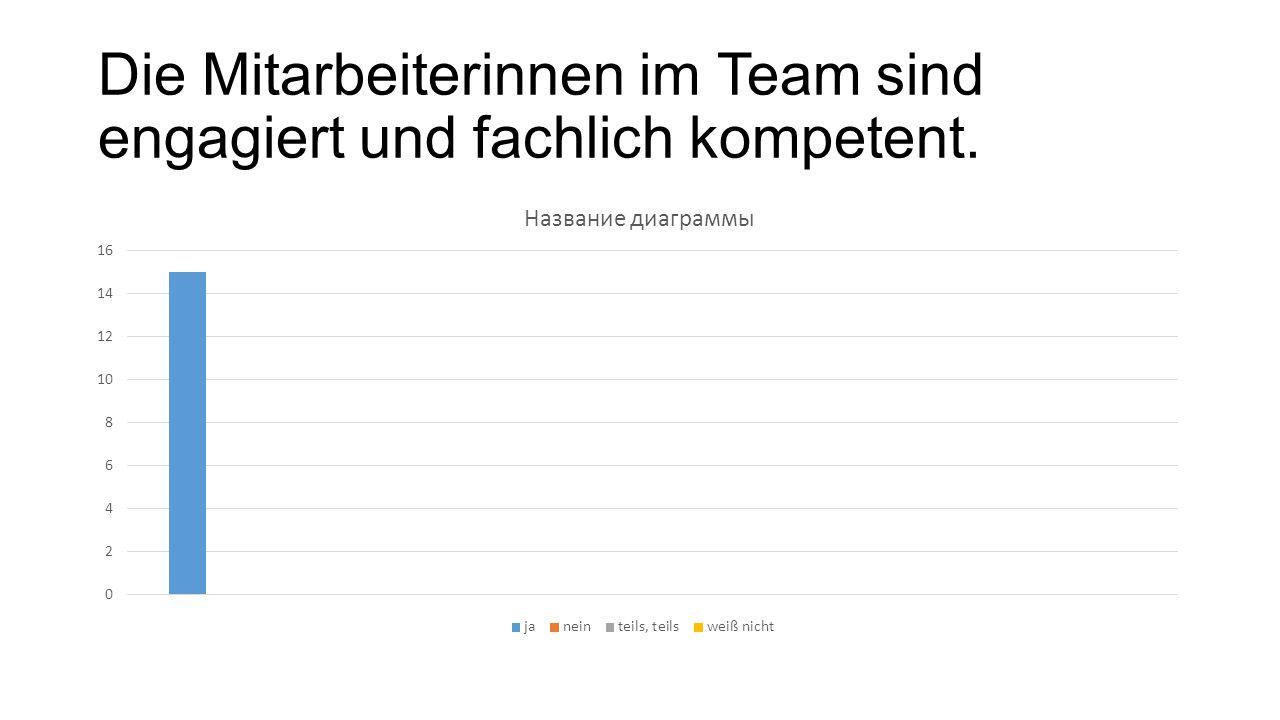 Die Mitarbeiterinnen im Team sind engagiert und fachlich kompetent.
