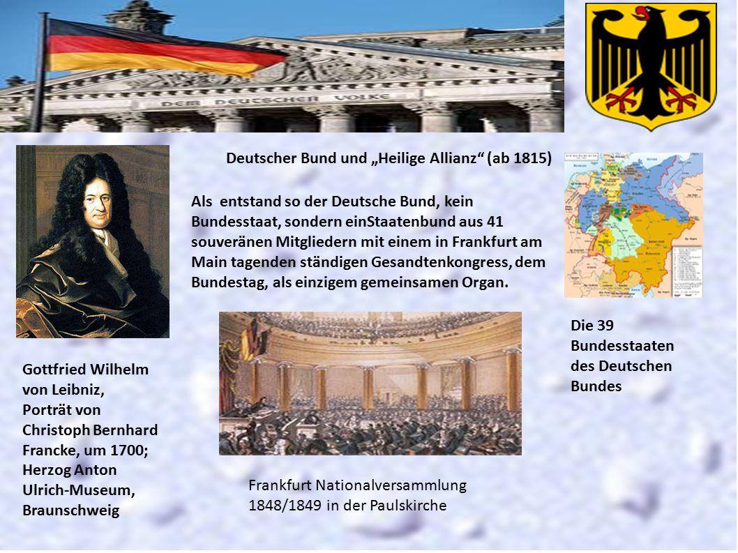 """Gottfried Wilhelm von Leibniz, Porträt von Christoph Bernhard Francke, um 1700; Herzog Anton Ulrich-Museum, Braunschweig Deutscher Bund und """"Heilige A"""