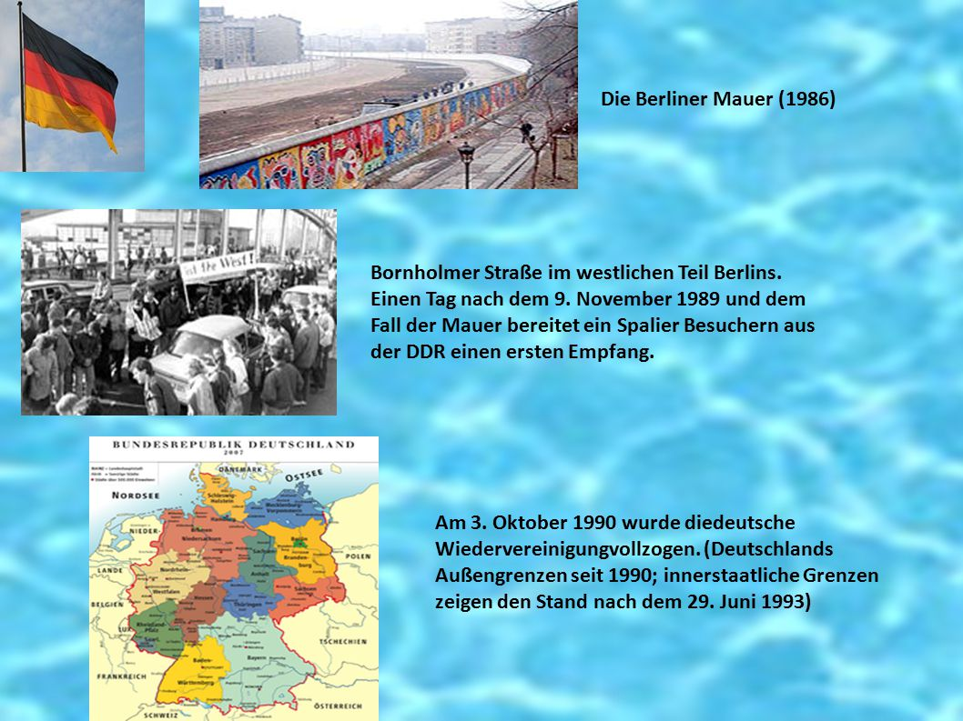 Die Berliner Mauer (1986) Bornholmer Straße im westlichen Teil Berlins. Einen Tag nach dem 9. November 1989 und dem Fall der Mauer bereitet ein Spalie