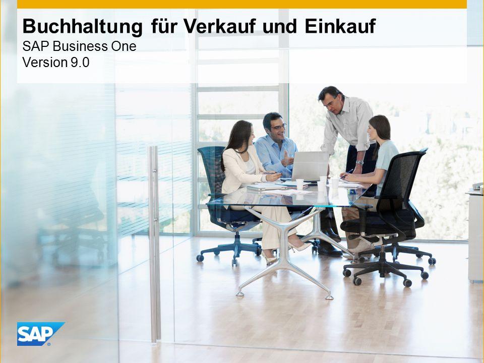 INTERN Buchhaltung für Verkauf und Einkauf SAP Business One Version 9.0