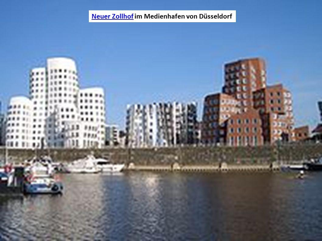 Neuer ZollhofNeuer Zollhof im Medienhafen von Düsseldorf