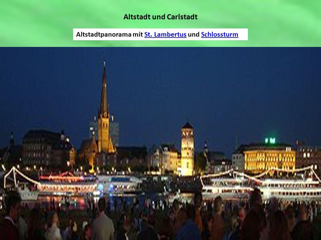 Altstadt und Carlstadt Altstadtpanorama mit St. Lambertus und SchlossturmSt. LambertusSchlossturm
