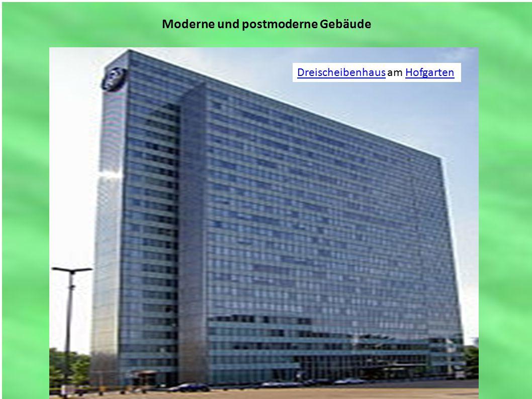 Moderne und postmoderne Gebäude DreischeibenhausDreischeibenhaus am HofgartenHofgarten
