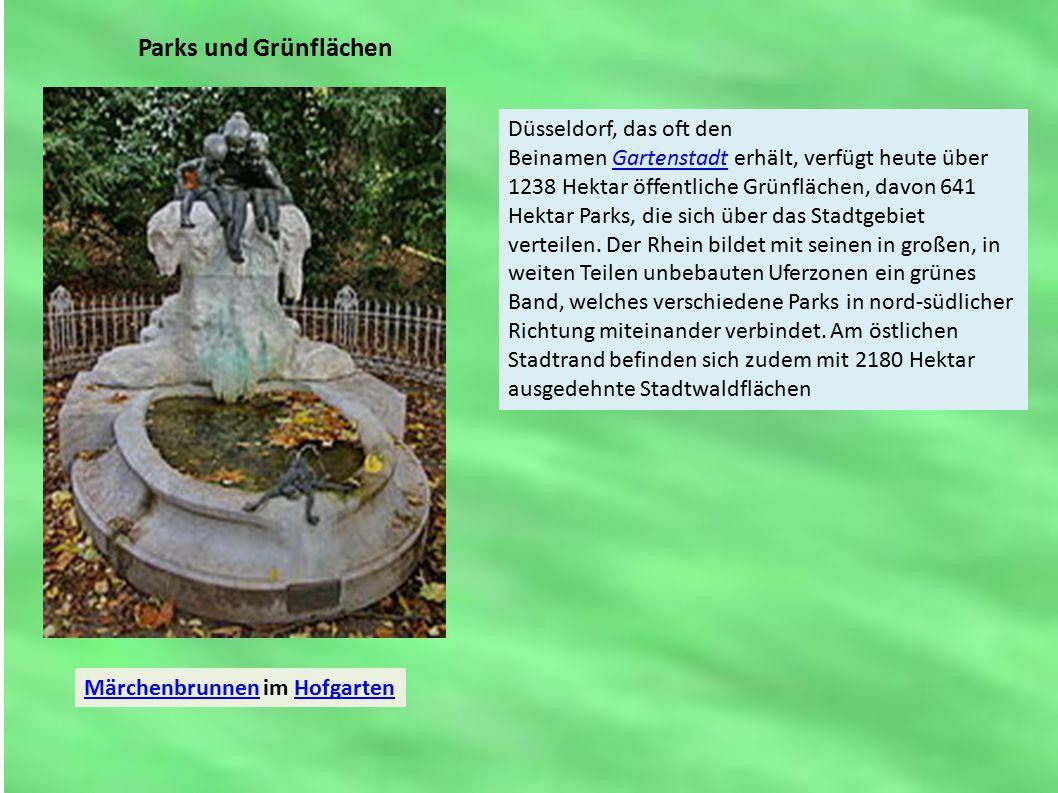 Parks und Grünflächen MärchenbrunnenMärchenbrunnen im HofgartenHofgarten Düsseldorf, das oft den Beinamen Gartenstadt erhält, verfügt heute über 1238