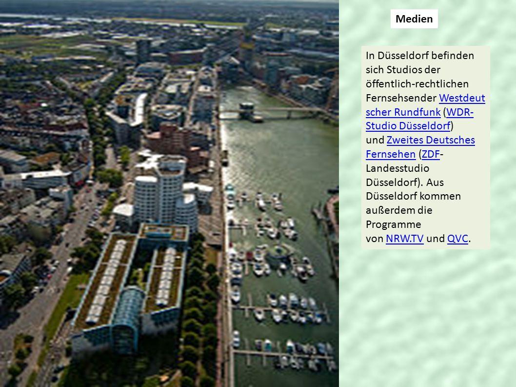 Medien In Düsseldorf befinden sich Studios der öffentlich-rechtlichen Fernsehsender Westdeut scher Rundfunk (WDR- Studio Düsseldorf) und Zweites Deuts
